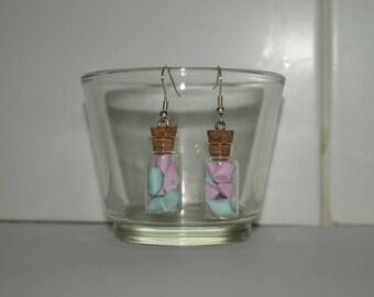 """Earrings """"my little vials Marshmallow"""""""