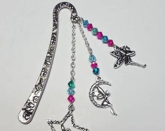 Small bookmark magical turquoise and fuchsia