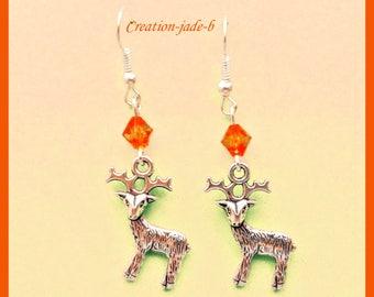 Pending deer Orange - fancy earrings