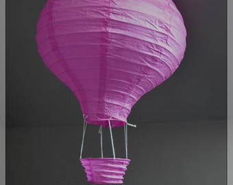 Hot air balloon paper Lantern pink 30 cm