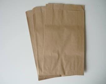 Set of 10 neutral kraft packaging - 12x20cm