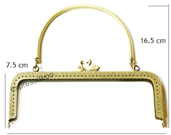 Clasp coin purse from 20.5 cm x H 16.5 cm Metal #330208