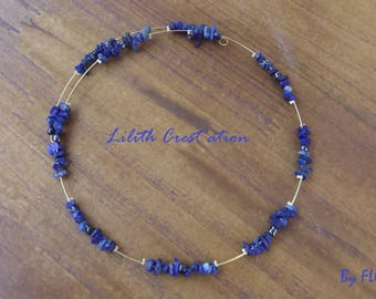 Necklace-Choker, sodalite