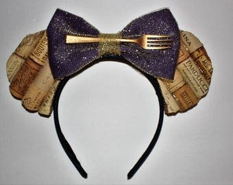 Food and Wine Festival Inspired Cork Mouse Ears