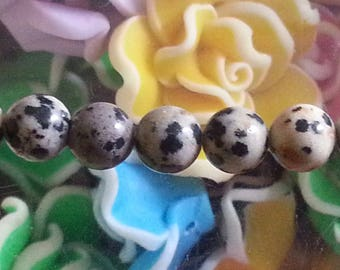5 pearls chatter Dalmatian of 6mm diameter, hole 1 mm