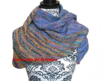 shawl / scarf / scarf/shawl with pepsi colors