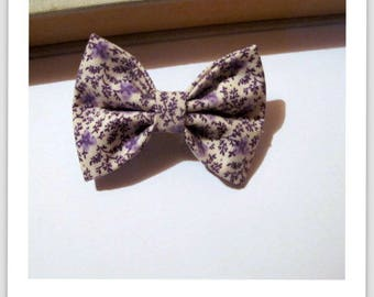 "hair bow ""clip - me"" floral purple"