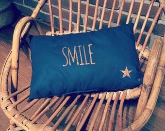 Small ornamental pillow SMILE customizable