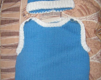 New hand knitted hat and tank set