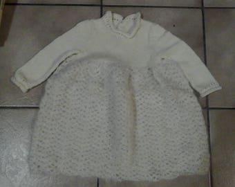Crochet dress and knit t. 9 / 12 months