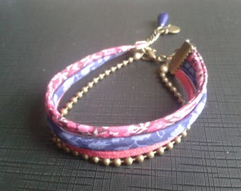 liberty, suedine bracelet, ball chain
