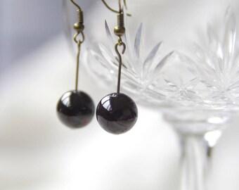 semi precious Garnet elegant chic earring