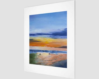 Summer Sunset Fine Art Print | Reflections Still Life Hanging Wall Art | Home Decor & Accents