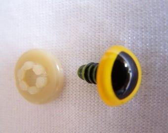 Œil cat, animal plush, yellow, 15 mm