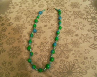 beautiful necklace unique and original green and blue