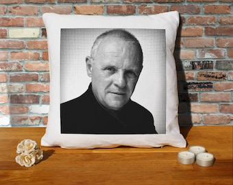 Anthony Hopkins Pillow Cushion - 16x16in - White