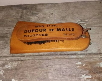 Vintage French Wooden Publicity Clothes Brush,Decor,Decorative, Wood, Gift,Rustic,Country House,French Decor