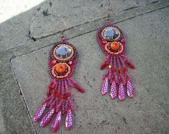 Euphrasia embroidered earrings