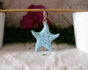 Sea star key chain