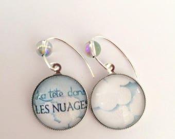 """""""Head in clouds"""" earrings in 925 Silver"""