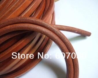 beautiful leather cord, 10 * 6 mm in caramel color, 20 cm diameter