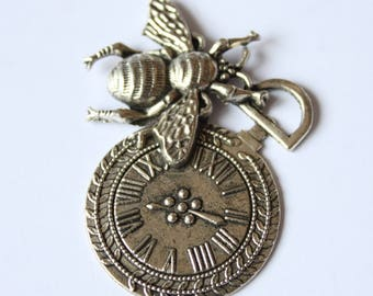 insect and Bell pendant 44 * 43 mm tibet silver