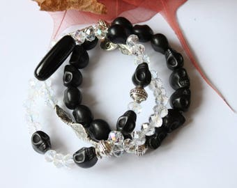 Bracelet made of silver plated and Crystal