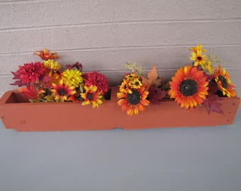 pallet wood flower boxes
