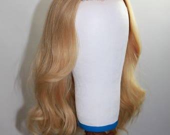 """All Natural- Blonde  Straight/Wavy Human Hair Lace Front 16-22"""""""