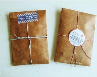 Retro Kraft envelope, gift bag, paper bag