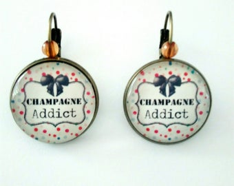 Earrings for a champagne addict