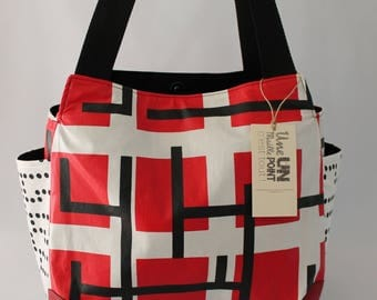bag fabric coated tulip graphic cotton bag
