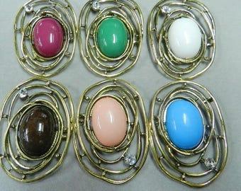 Original charms handmade (bronze/dark pink)