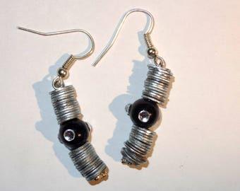 "Earrings ""Nut"" transparent color"