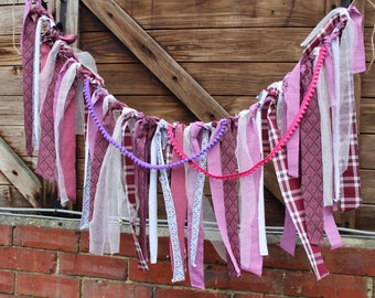 Rustic Tassle Garland From Upcycled Fabric