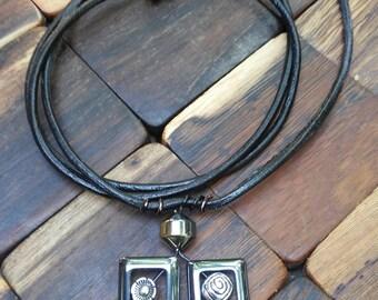 Whimsical Hematite Pendant Necklace