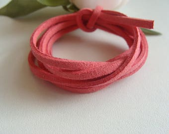 salmon pink suede 2 * 2 mm cord