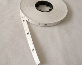 Tag size M clothing creations sewing by machine sewing tape