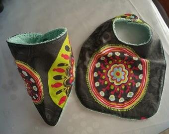 Set of bib and bavana for girl