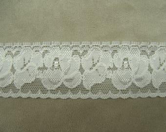 CALAIS lace - 3 cm - white