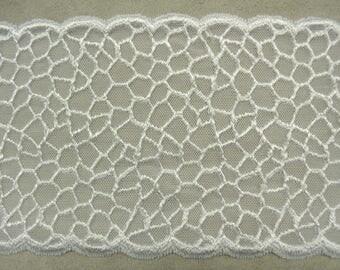 LACE of CALAIS - 12 cm - white