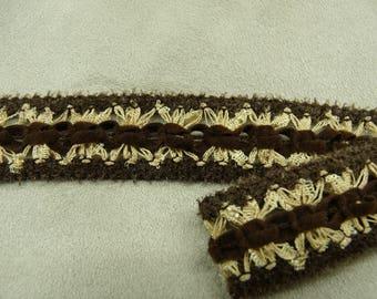 FANCY Ribbon - 2 cm - Brown & beige