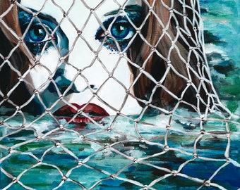 SNARE A4 PRINT (Shirley Manson as a Mermaid)