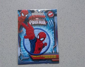 Shield to stick to iron or sew Spiderman