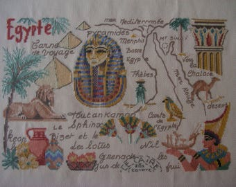 Embroidered and framed picture Egypt