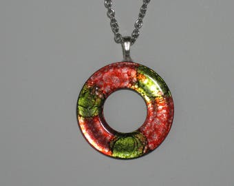 Red & Green Washer Necklace