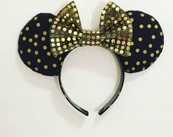 Gold Dots Celebration Mouse Ears