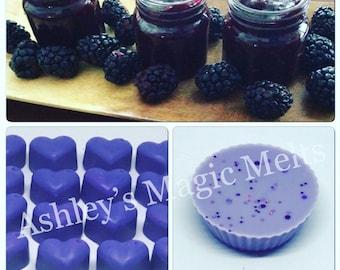 5 blackberry jam wax melts, sweet wax melts, cheap melts, food wax melts, wax melt tarts, highly scented wax melts, scented wax cubes