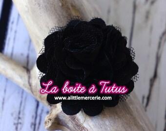 ★ fabric flower Applique tulle strapless headband diy tassel belt ★ P1 - black