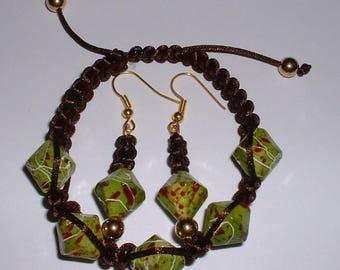 Set tops hope bracelet and earrings beaded